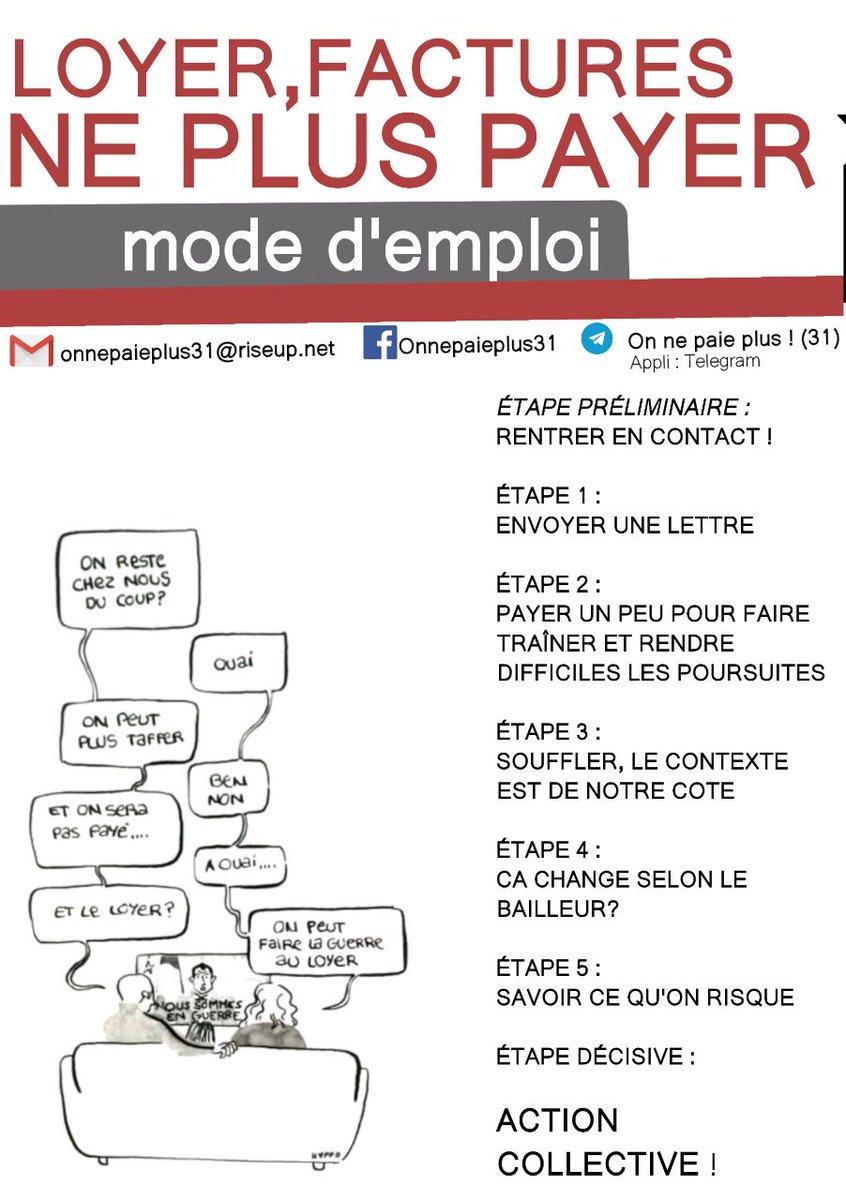 À Toulouse le collectif on ne paie plus 31 a sorti un guide pour expliquer les démarches à suivre! À lire et à faire tourner ! #grevedesloyers