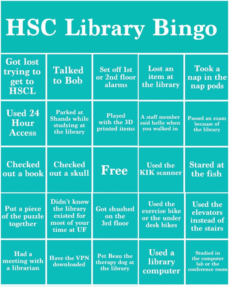 HSC Library Bingo: Nostalgia Edition #WeMissYou