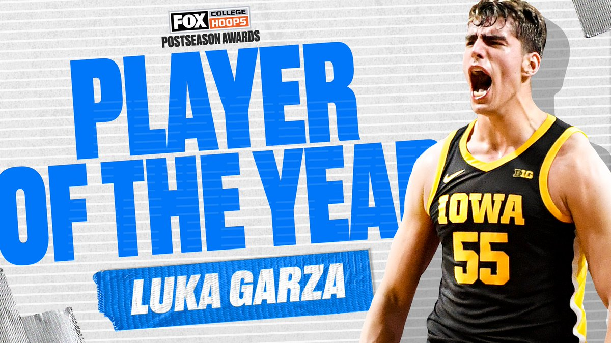 What a year for the @IowaHoops star 🙌🔥 @LukaG_55 is your Player of the Year, as voted on by CBB on FOX fans!