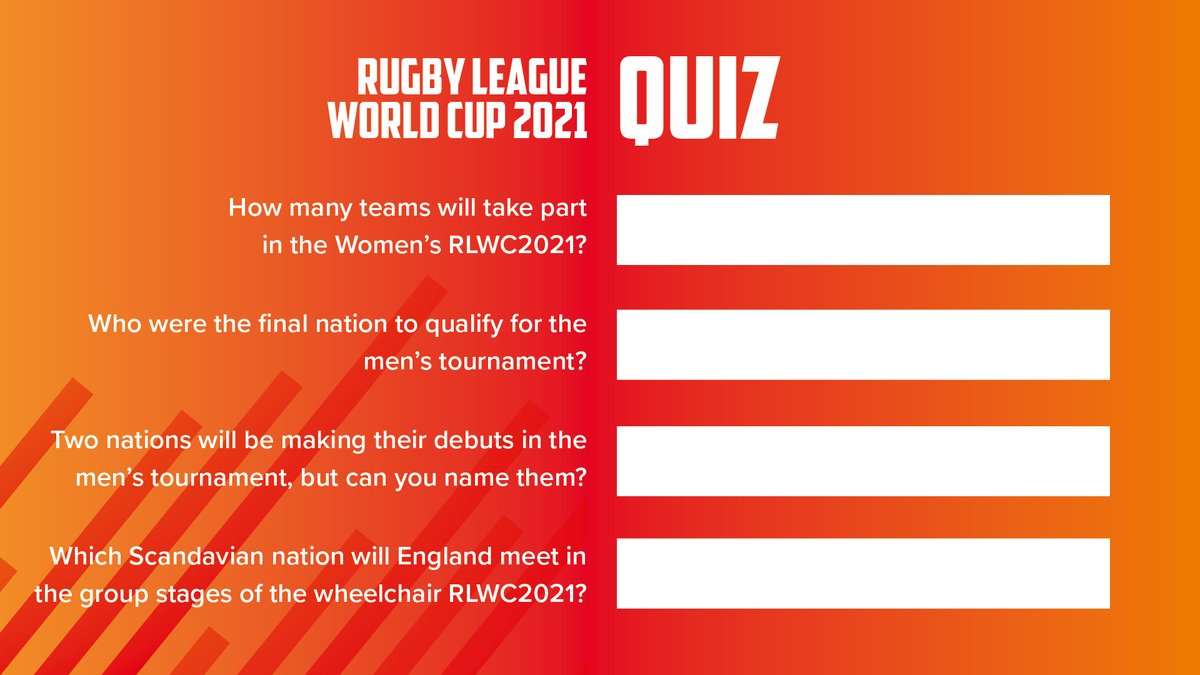 It's time for another quiz.   Don't forget to share your answers with us #RLWC2021pic.twitter.com/ETjW2lK4bI