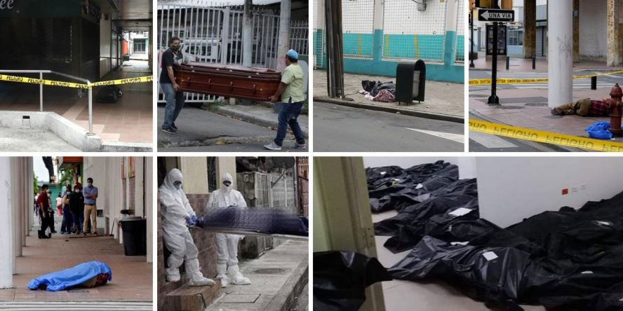 #EcuadorSOS Please help spread the word can someone help the hospitals of #Ecuador there's literally people dying on the streets. 80% of the people with #coronavirus are at the home because hospitals can't help them. There's lots of bodies left on the streets, my country is dying https://t.co/rwYRJog9hH