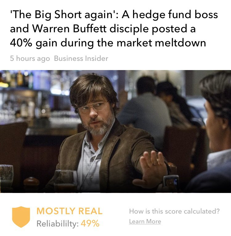 A #hedgefund boss and #WarrenBuffett disciple made a 40% gain during the brutal #coronavirus sell-off after more than two years of betting against the #stockmarket.  #WeFilterFakeNews #StockMarket #stocks #finance #Trending #BREAKING #thebigshort   http://Oigetit.compic.twitter.com/rYa2HqHMq6