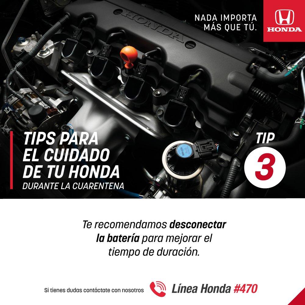 En Honda seguimos ofreciéndote algunos tips para el cuidado de tu Honda durante estos días en los que todos debemos estar en casa. https://t.co/CTvRexh9cN