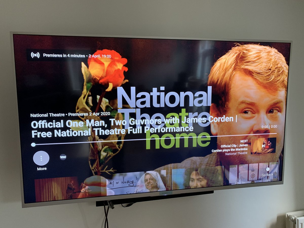 #100happydays Day 13 National Theatre at home. Wonderful.