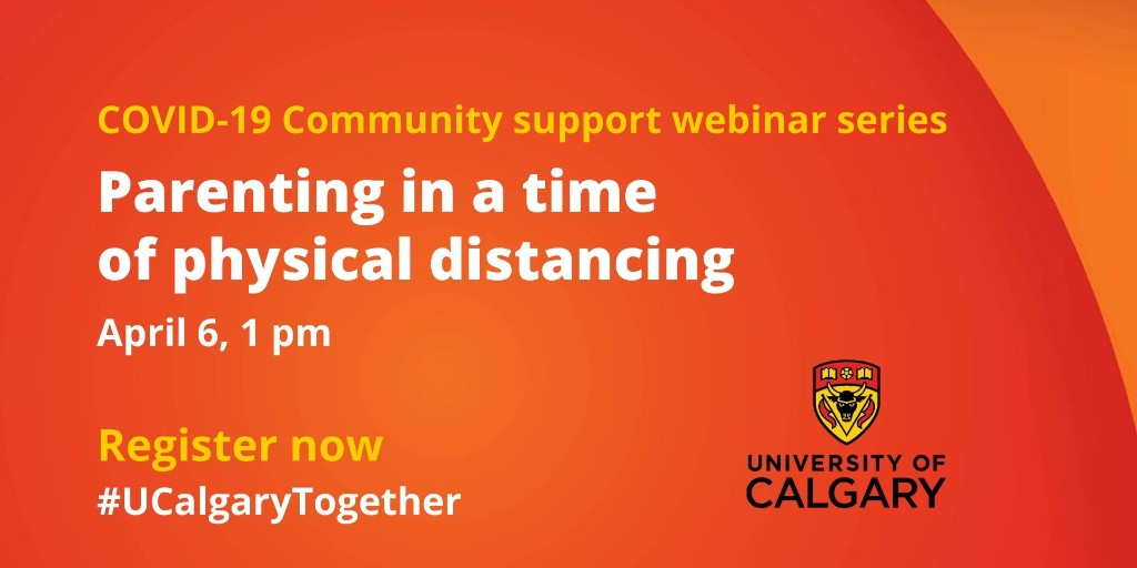 This 'Parenting in a Time of Physical Distancing' webinar from @UCalgary will be helpful to those looking for strategies for establishing and managing routines while we #StayAtHome