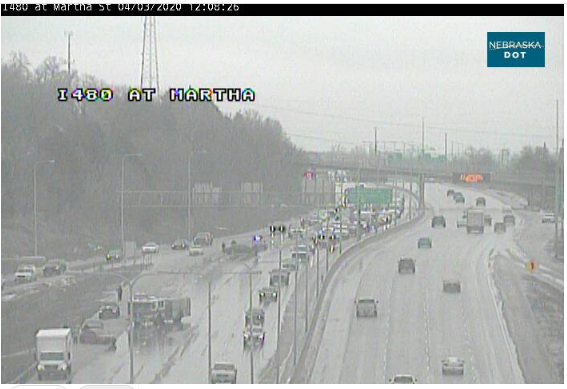 Image posted in Tweet made by Omaha Hwy Conditions on April 3, 2020, 5:13 pm UTC