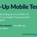 Image for the Tweet beginning: Drive-up mobile testing sites for