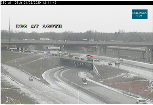 Image posted in Tweet made by Omaha Hwy Conditions on April 3, 2020, 5:20 pm UTC