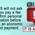 Image for the Tweet beginning: #ScamAlert: The #IRS will not