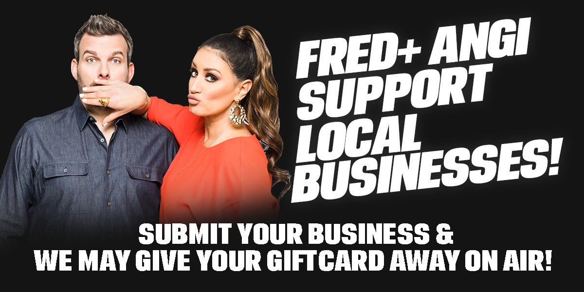 Are you a local business currently open? @FredAndAngi want to highlight you and give away giftcards to new customers! Register your business here: 1035kissfm.iheart.com/contests/submi…