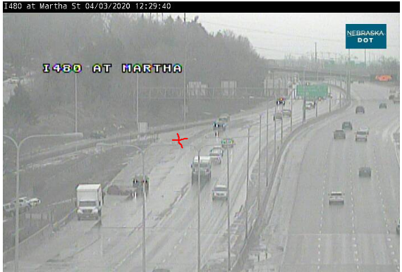 Image posted in Tweet made by Omaha Hwy Conditions on April 3, 2020, 5:34 pm UTC