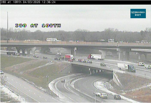 Image posted in Tweet made by Omaha Hwy Conditions on April 3, 2020, 5:44 pm UTC