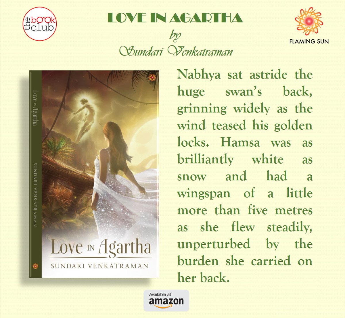 #LoveinAgartha #kindle #indieauthor #indiebooks #romance #romancenovels #KindleUnlimited Hamsa was as brilliantly white as snow and had a wingspan of a little more than five metres as she flew steadily, unperturbed by the burden she carried on her back. https://www.amazon.ca/dp/B083G8HHW5pic.twitter.com/KmvNAMl8rv