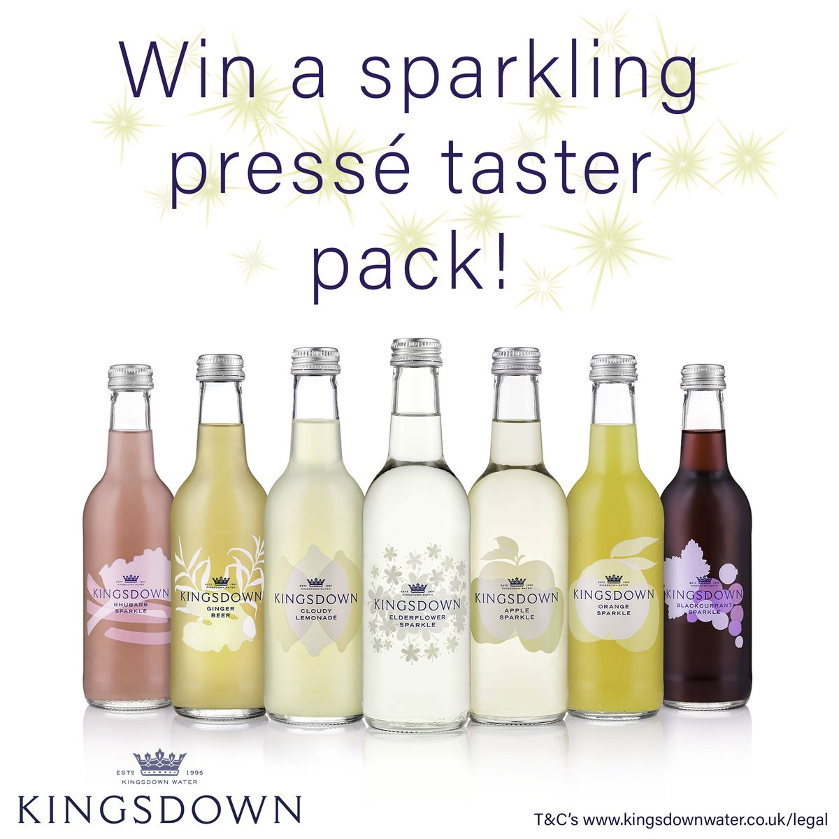 Week 3  Everyone could do with some extra sparkle right now, so #Follow & #rt @kingsdownwater for your chance to #win a Sparkling Pressé taster pack! #Giveaway #prizes #FridayFeeling #FridayMotivation   #Competition ends 6pm 10/04/2020 - Good luck <br>http://pic.twitter.com/9dP1iKL29O