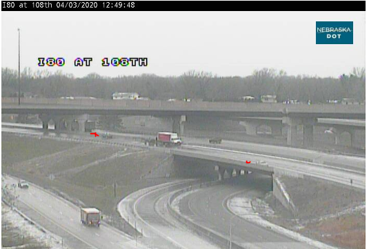 Image posted in Tweet made by Omaha Hwy Conditions on April 3, 2020, 5:58 pm UTC
