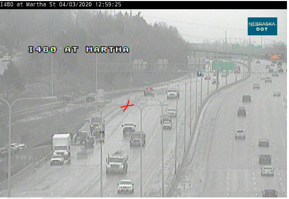 Image posted in Tweet made by Omaha Hwy Conditions on April 3, 2020, 6:04 pm UTC