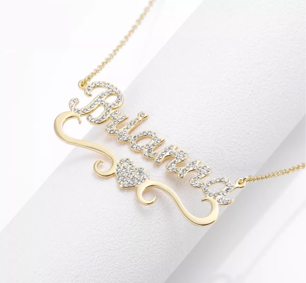 Rock a Personalized 18K Gold ✨Necklace! RIGHT NOW take 💥40% off ALL Personalized orders. Sale last from 4/3- 4/5  - US orders $35+ qualify for FREE SHIPPING -  #FlashSale #SALE #TJE #JewelrySale #CustomDesign #Personalized #FreeShipping #Arabic #Infinity