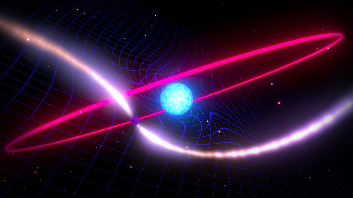 A pulsar confirmed another piece of the general relativity puzzle Einstein predicted