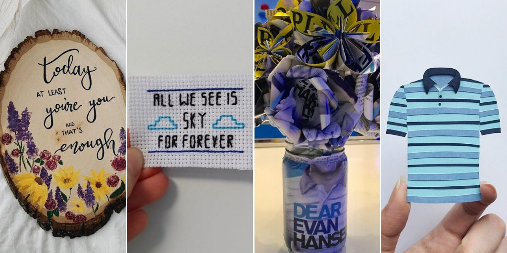 Looking for an indoor activity this weekend? Take some inspiration from these crafty creations. #DearEvanHansen