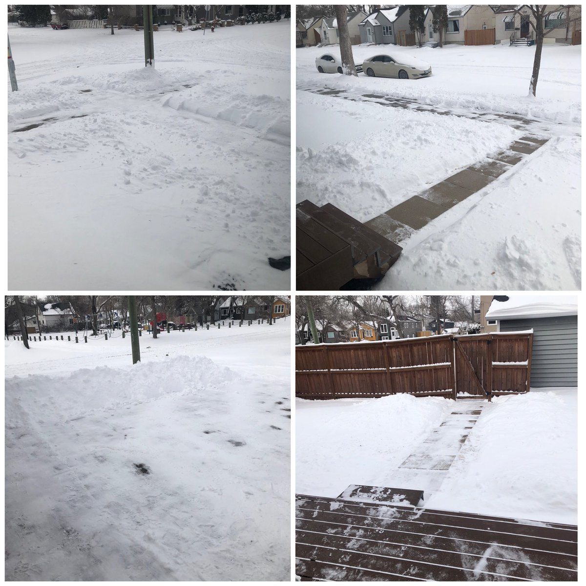 Appreciate #RHAP more than ever. Listening to podcasts while shovelling for hours. (There was no snow on the ground just over 24 hours ago). Thank you @robcesternino. #Winnipeg #somuchsnow #stayhomeandshovelpic.twitter.com/JnSCDux1Z5