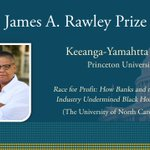 Image for the Tweet beginning: The James A. Rawley Prize