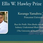 Image for the Tweet beginning: The Ellis W. Hawley Prize