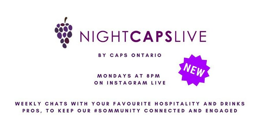 We've missed you guys | STARTING THIS MONDAY APRIL 6TH | Come join us LIVE on Monday nights at 8 PM on Instagram. Grab a glass come for a nightcap. We'll be bringing you experts from the world of #drinks & #hospitality. Follow @ caps.ontario #instagram #sommunity #sommlife #wine pic.twitter.com/mbVvvIYDmE