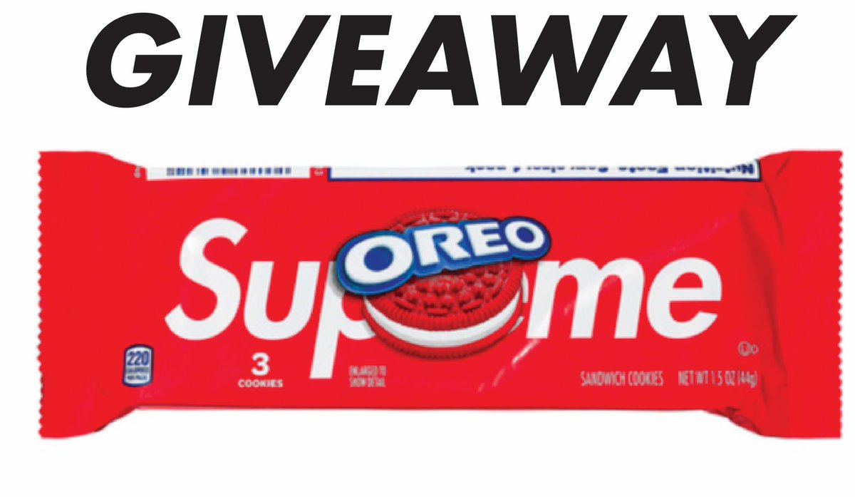🚨GIVEAWAY🚨 Supreme Oreos 3-Pack🍪  To enter: 1. Follow  @TheSupremeSaint @ericwhiteback @JoeMigraine  2. Retweet & Like this tweet  Giveaway ends Friday, 4/10. Good Luck! 🍀