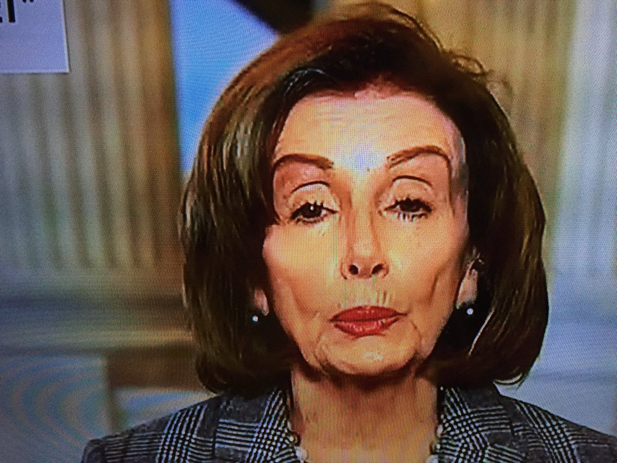 """Lawyerforlaws on Twitter: """"Why does Nancy Pelosi have elongated ..."""