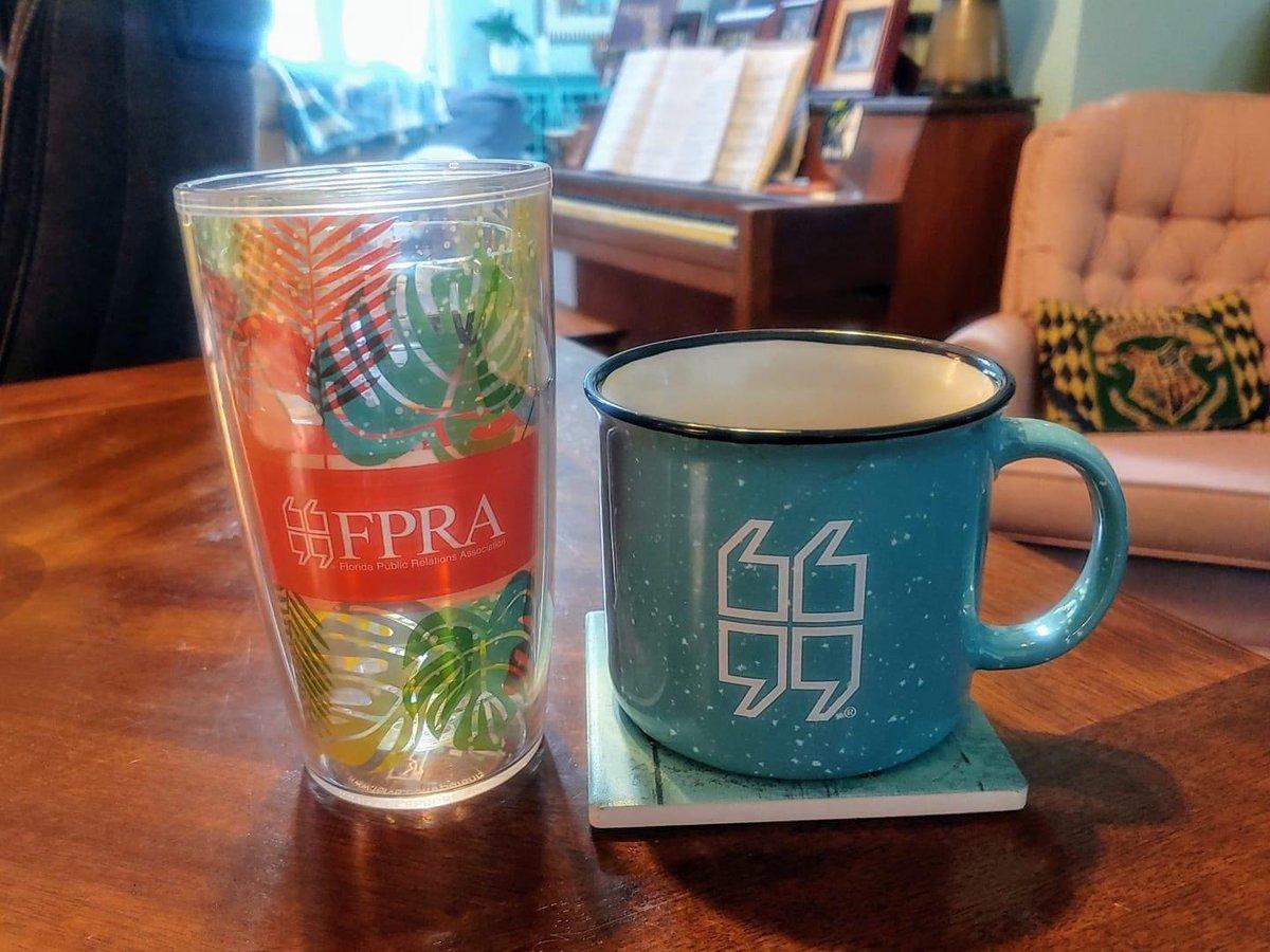 Water + coffee + FPRA! Loving @wellsaidpr's setup today! #workfromhome #TransformFPRA