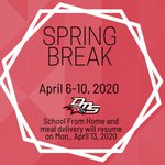 Image for the Tweet beginning: Have a great Spring Break,