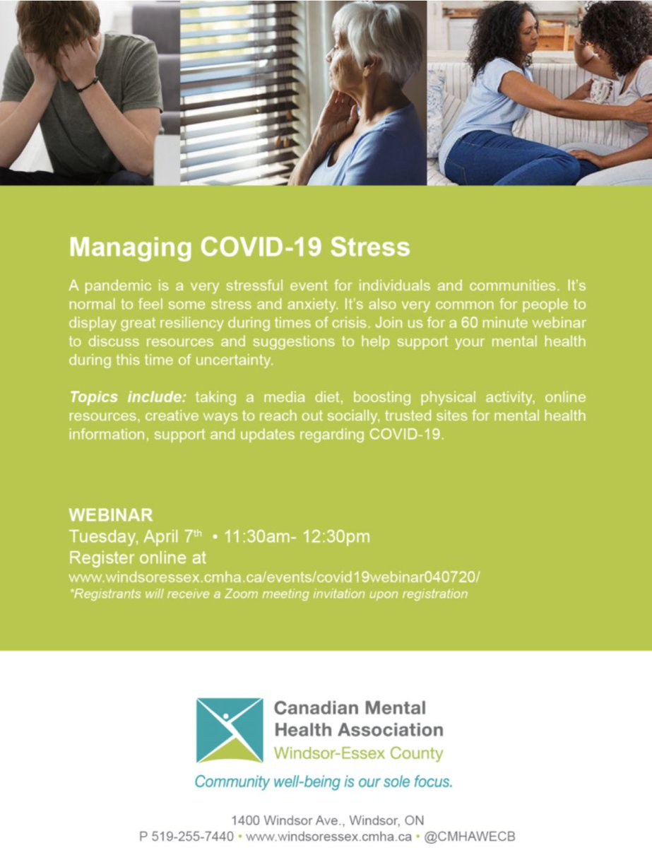 test Twitter Media - Free webinar: Managing #COVID19 Stress. Click link to register https://t.co/x8IZIGkrtv #mentalhealth https://t.co/FrVkVXfVXE