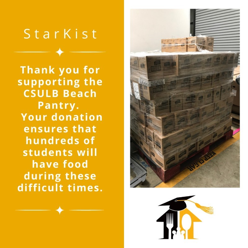 We commend @beachpantry and others like them working harder than ever to ensure students have access to food and essentials. You're all nothing short of heroic.💙#alonetogether #thankyou