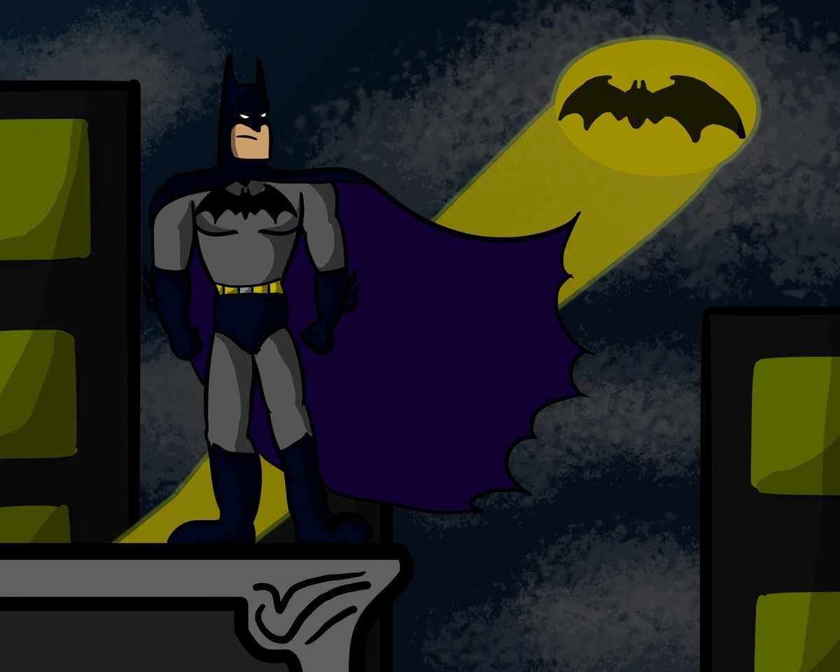 I have been drawing Batman characters pretty much all day today. It's all concept art of character designs for an animated video I'm making for an animation class I'm taking. (The first two were done yesterday, the second two were today) #Batman pic.twitter.com/o3mpSw7YAj