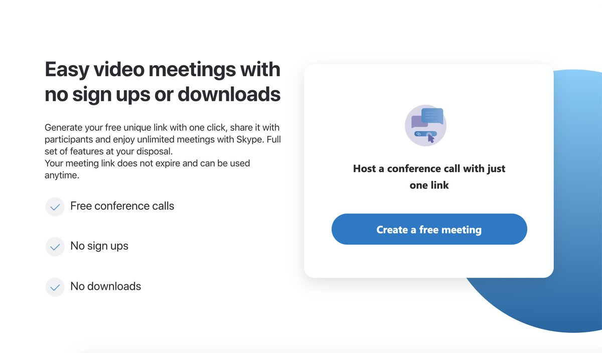 Skype creates link-based calling without requiring the app or an account