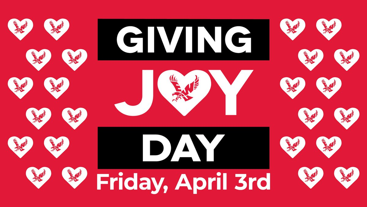 Share The Joy   Looking for ways to contribute today on #GivingJoyDay? Help our student-athletes by giving to the Eagle Athletic Fund. Every dollar helps provide scholarship support.  -Donate: http://ewu.edu/givingjoyday   #GivingJoyDay #GoEagspic.twitter.com/zjjxOdG58h