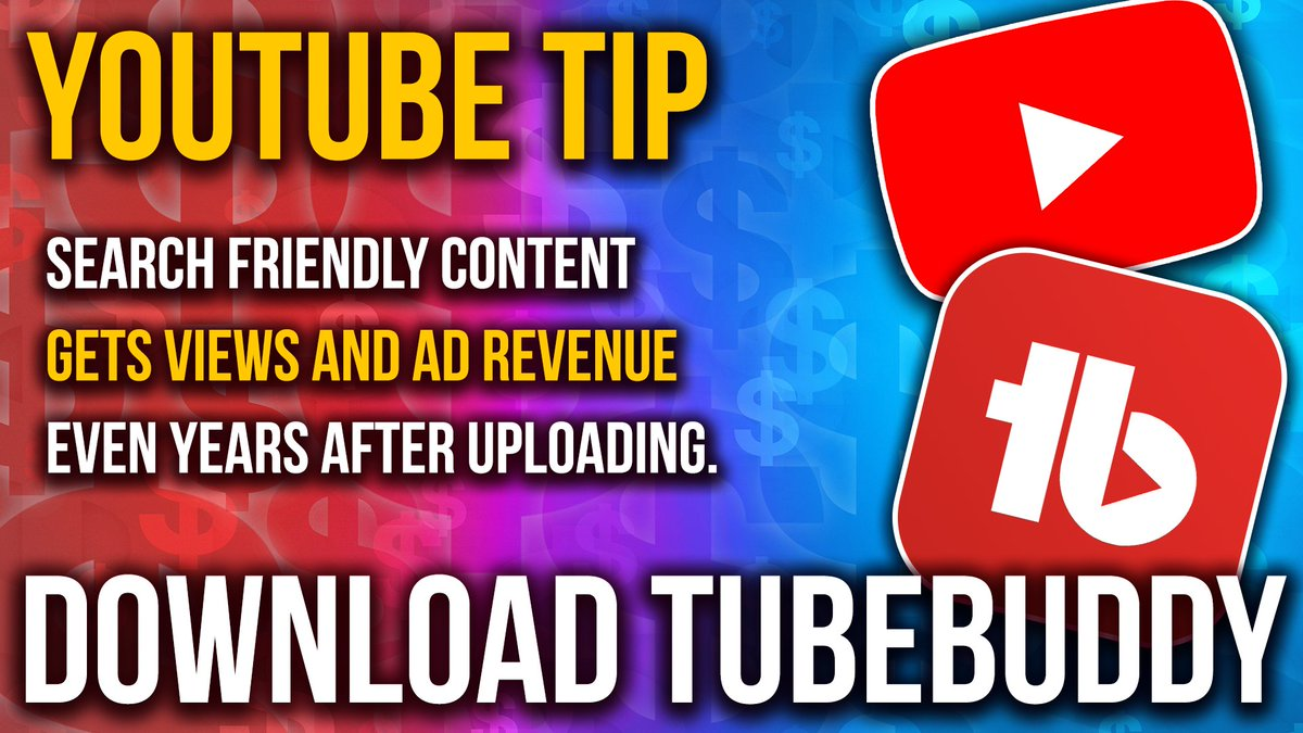 #YouTubeTip Search Content Isn't Sexy, But It Will Make You Money All Year Round! Use @Tubebuddy to Dominate YouTube Search! https://bit.ly/2SJQUMh  (referral)  DOWNLOAD FOR FREE! Or use my 20% OFF DISCOUNT CODE:  robertosbuddy  #YouTube #SmallYouTubers pic.twitter.com/8spK3Qf4P6