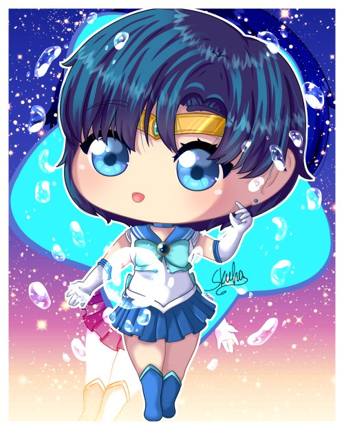 Ami-chan <3 me acuerdo q subi un mini speed de Ami hace un tiempo q tenia otro tipo de agua xD no me gusto y lo re hice ;-;  <3 <3   #digitalart  #digitalartist #digitaldrawing #wacom #artoftheday  #artsupporters #sailormoon #sailormercury #mizunoami #animegirl #chibi #cutepic.twitter.com/nHQSsk5XPJ