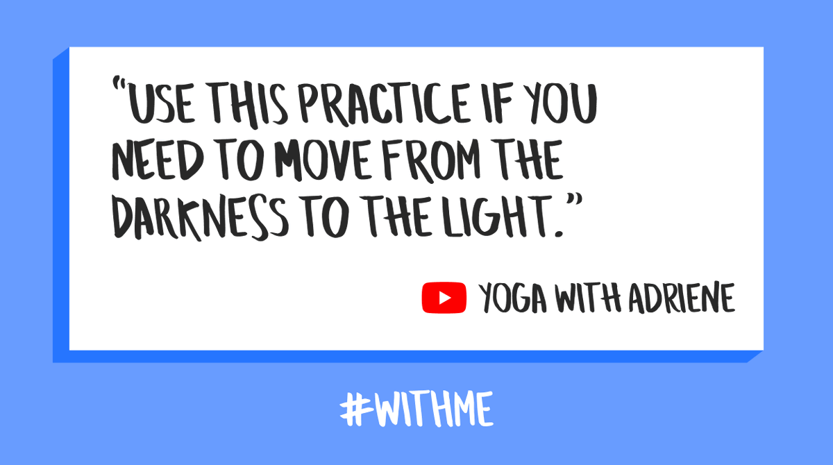 Sometimes you just gotta get up and shake it out! Follow along with @yogawithadriene  and find your light. ☀️