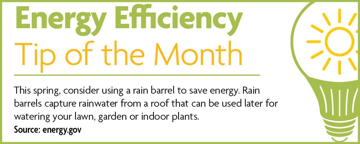 Energy Efficiency Tip of the Month #EnergyEfficiency pic.twitter.com/luNbABbYGl