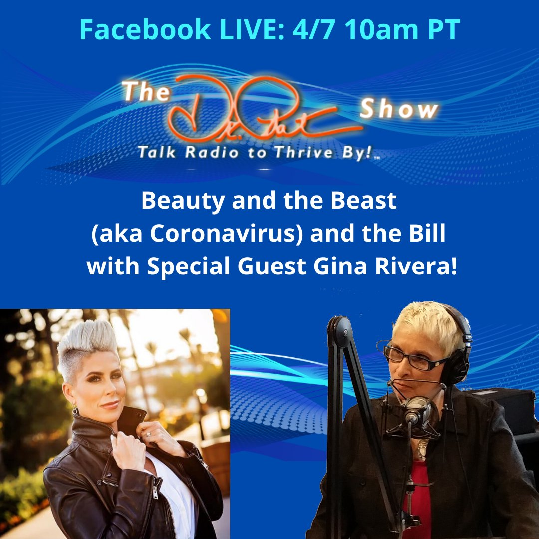 Tune in Tuesday 4/7 at 10 am Pacific! for Beauty and the Beast (aka Coronavirus) and the Bill with Special Guest Gina Rivera! http://ow.ly/k92d50z4Zet #stimuluspackage #coronavirusstimulus #unemployment #smallbusiness #outofwork Gina Riverapic.twitter.com/KRtVt2vJjw