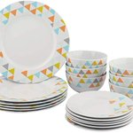 Image for the Tweet beginning: AmazonBasics 18-Piece Dinnerware Set -