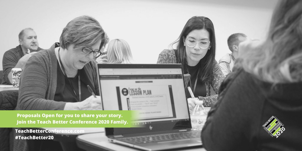 We have gotten a lot of questions regarding proposals for #TeachBetter20.  Session Submissions are open for #educators to submit a proposal to share their story at Teach Better Conference 2020.   Details at  #TeachBetter19
