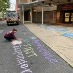 Image for the Tweet beginning: The #ChalkTheWalk movement has arrived