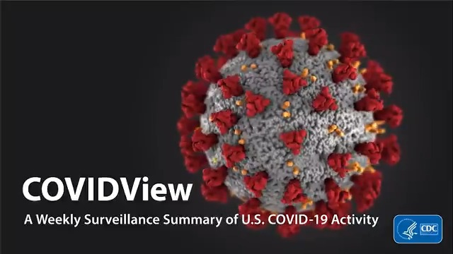 Image for the Tweet beginning: CDC #COVIDView reports that visits