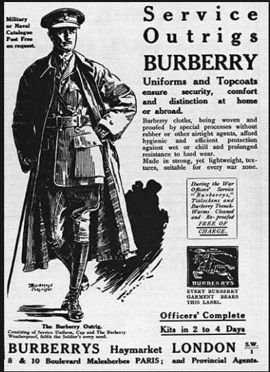 Burberry. A long proud history. Thank you to them .pic.twitter.com/LhsRQ8SBoE