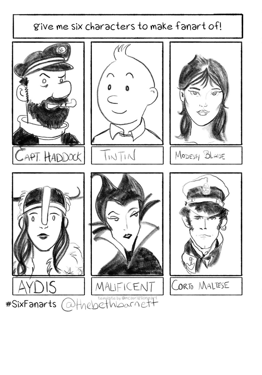 I did the #SixFanarts meme! This was really fun and got me doing digital art for once :)