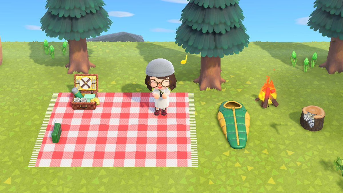 𝒥𝒶𝒸 On Twitter Working On A Cute Lil Picnic Spot Still Need A Few Pillows And Other Items But It S Getting There I Made My Own Picnic Blanket Design Which