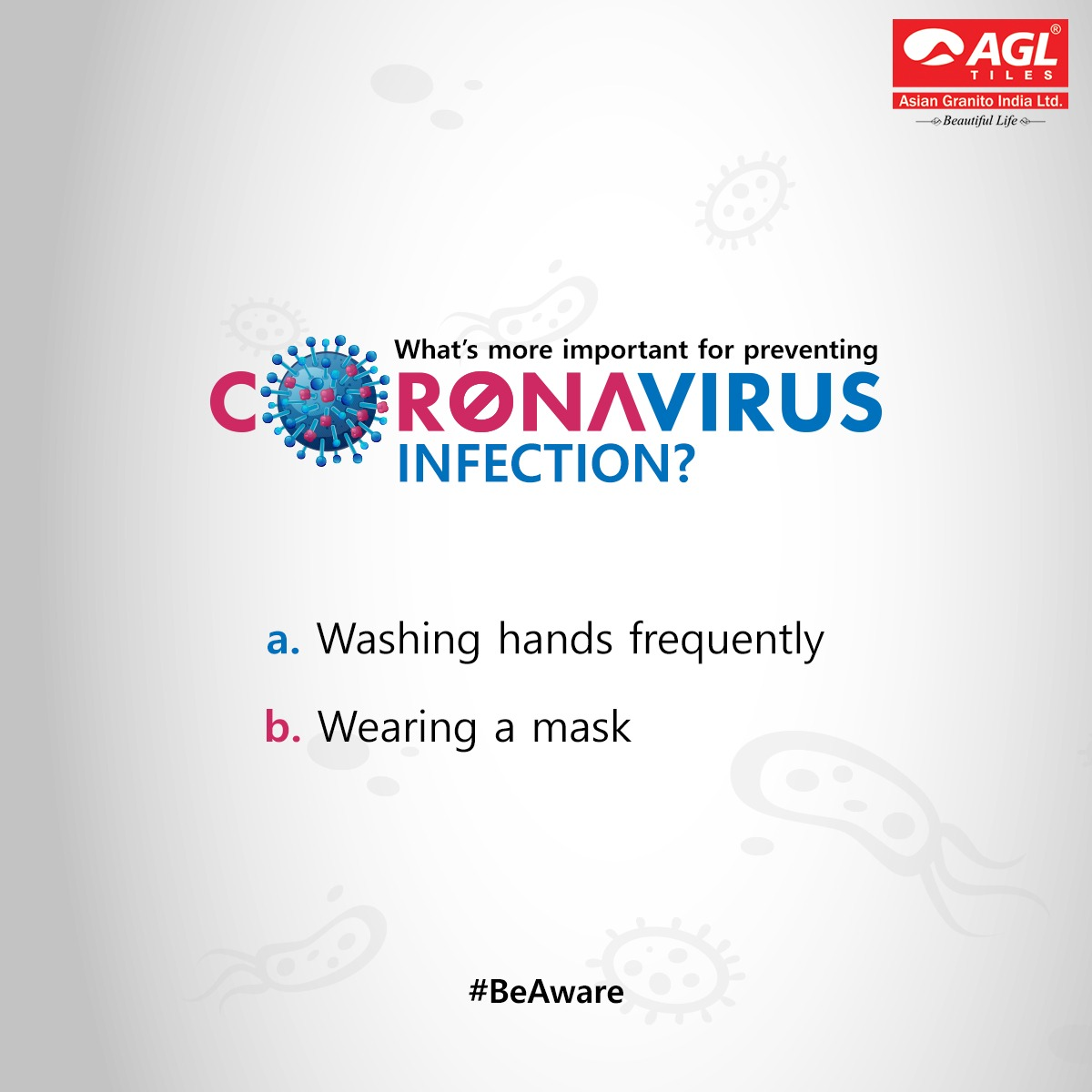 Follow the page and photo, Comment the correct answer, Tag 3 or more friends and stand a chance to win!  #BeAware #Quiz #Contest #CoronaVirus #AGLTiles #ig #instagood pic.twitter.com/ZRgeZgbP4d
