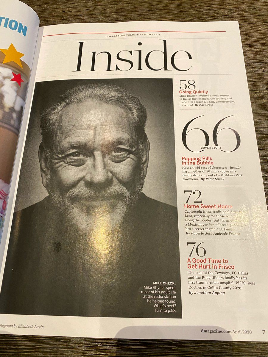 Good read on @dfwticket Mike Rhyner in this month's @DMagazine - Stay hard @theoldgreywolf